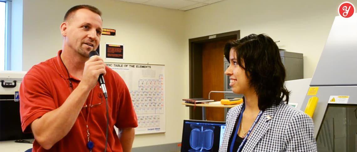 Aida Yoguely interviews avionics failure analyst and materials engineer at the NASA Marshall Space Flight Center.