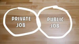 "The outside ""private"" job located within a circle, must not conflict with the federal, ""public"" job, located in different circle."