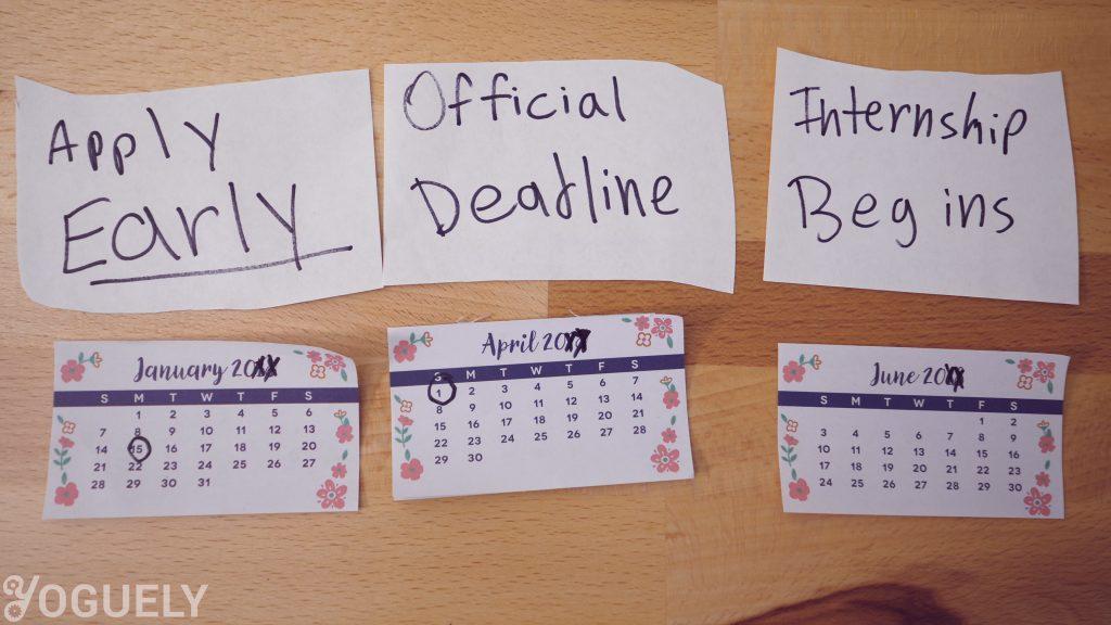 La fecha límite oficial para aplicar para una pasantía en la NASA es el 1 de abril. Aplique temprano a mediados de enero para aumentar sus posibilidades de obtener una pasantía de verano.