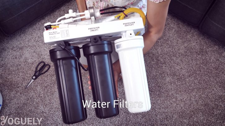 Unboxing 4 Stage Black & White 50/50 Series Water Saving Reverse Osmosis system under the counter