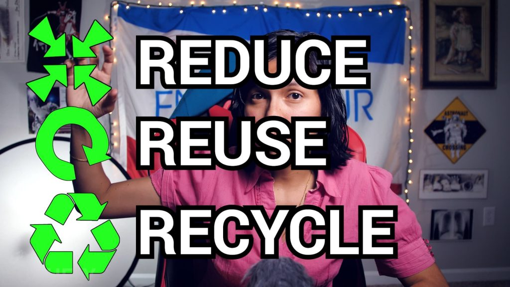Yoguely teaches the simplified waste hierarchy. Reduce, reduce, and lastly recycle.