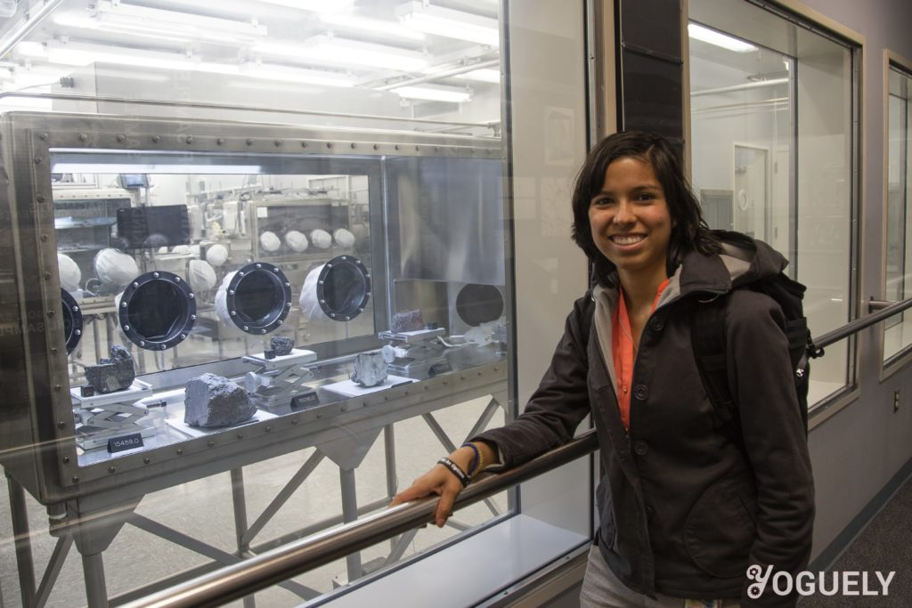 Aida Yoguely encountered real Moon rocks while working at the NASA Johnson Space Center. Astronauts use many safety strategies to minimize risk and ensure success of their mission.