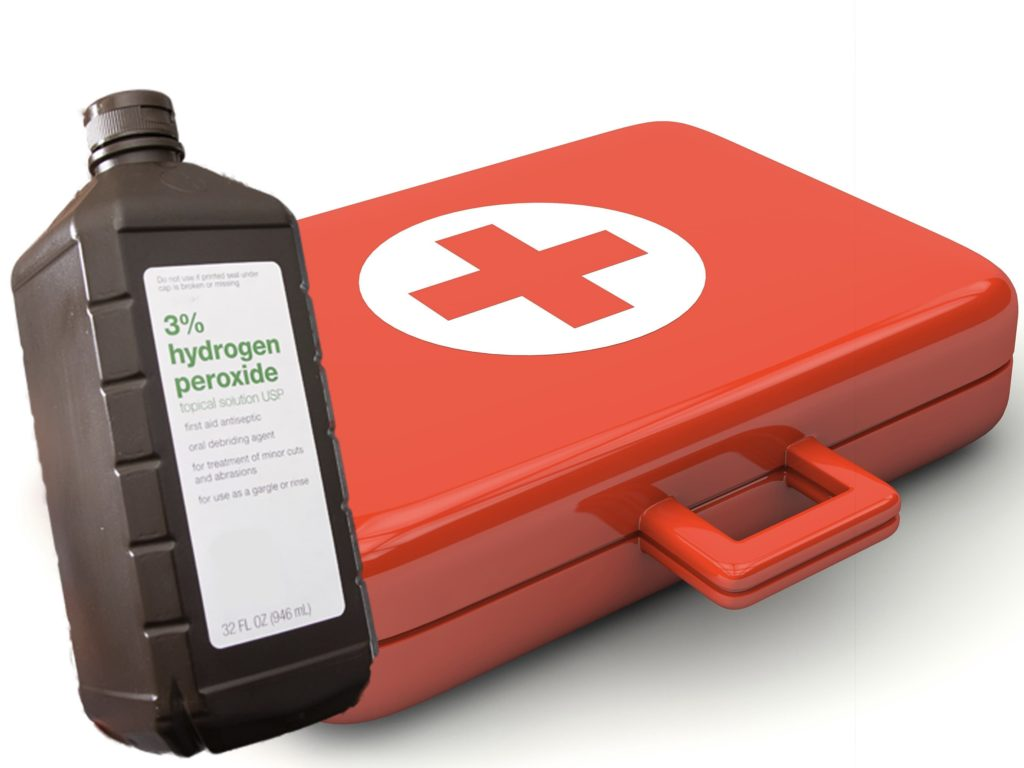 Hydrogen Peroxide can help prevent disease-causing microorganisms from growing on your wounds. Because of this, people use it as a oral debriding agent, to disinfect or help remove damaged tissues from oral wounds.