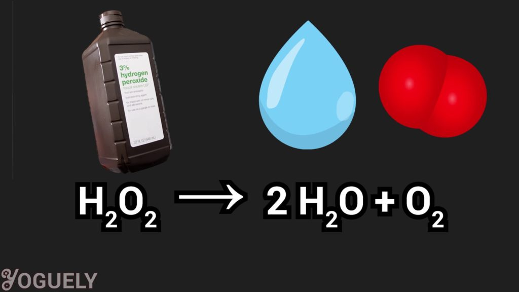 Hydrogen peroxide is perceived as an environmentally safe alternative to sodium hypochlorite because it degrades into oxygen and water, which isn't harmful to the environment.
