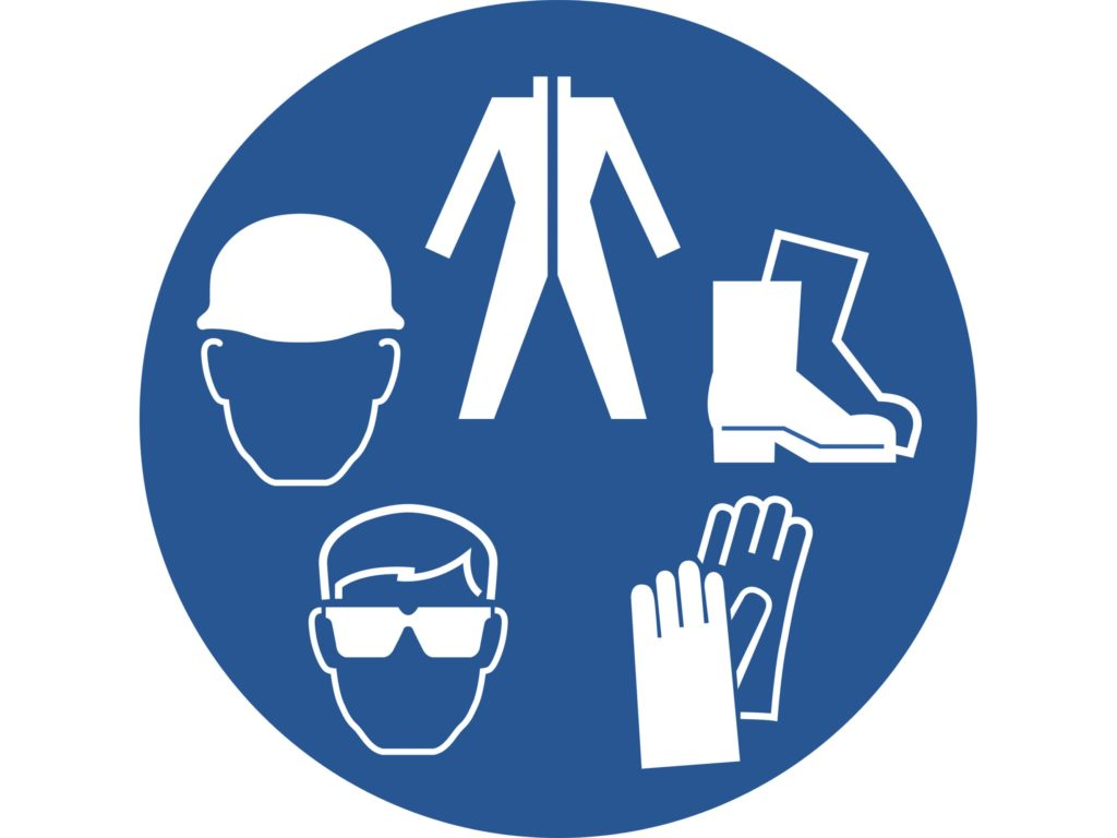 When handling chemicals, you should wear Personal Protective Equipment (PPE). Cover your skin with protective clothing, wear gloves, adequate respiratory protection, and safety goggles or a full face shield.