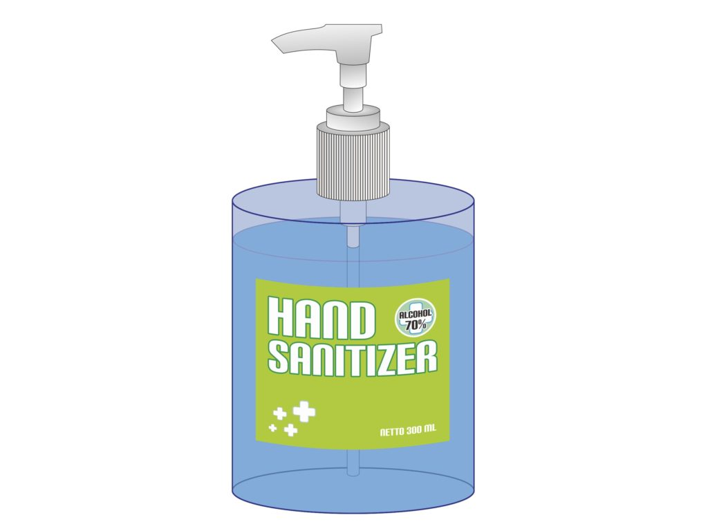 Sanitizers are commonly made with purified water, glycerine, carborner thickening agent, and fragrance. Some hand sanitizers also have added vitamin E, and aloe Vera.